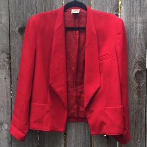 Vintage bright red blazer. City Girl brand!